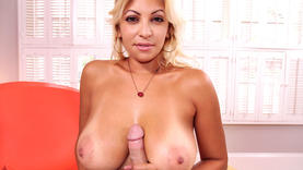 amazing blonde latina gets a lot of cum