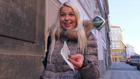 blonde european public striptease in public