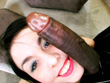 Small petite white girl takes her first big black dick, loves it
