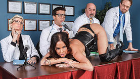 brandy aniston gets cock in her ass with doctor