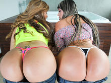Two Huge Asses From Colombia get Fucked!
