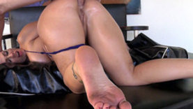 cute black hair girl fucked in ass