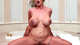 big tits milf riding cock