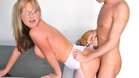allison kilgore in glasses gets a lot of cum
