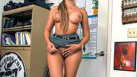 big tits latina makes handjob