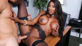 diamond jackson in lingerie getting fucked by black cock