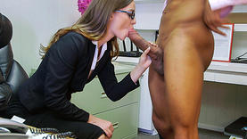 tali dova in glasses takes black cock