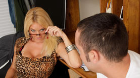 shaved milfs in glasses get facial