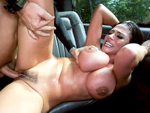 Ariella Squirts on The Bus