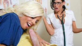 nurse milfs swallow cock with doctor