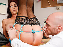 Teacher Tiffany Mynx Give Jonny A Reward
