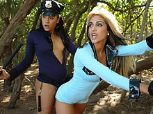 Lady Cops Share With Johnny's Man Meat