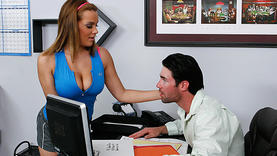 uniform natasha nice riding cock in the office