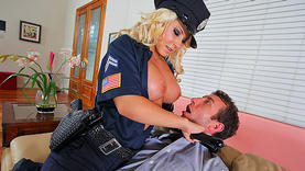 uniform madison ivy gets a lot of cum