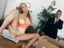 Samantha Saint & Bill Bailey in Naughty Office