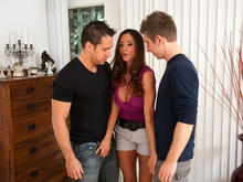 Ariella Ferrera, Johnny Castle & Danny Wylde in Seduced by a cougar