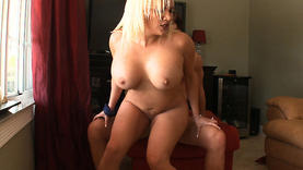pretty blonde milf doing handjob
